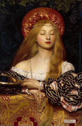 Frank Gadogan Cowper (1887-1958) Vanity. Pre-Raphaelite …