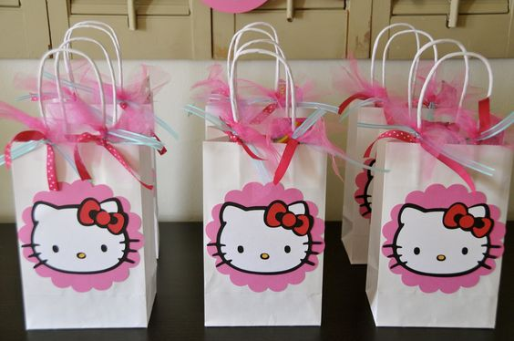 Hello Kitty Party Clip Arts | But I did make the favor bags...