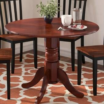 Boothby Drop Leaf Rubberwood Solid Wood Dining Table Drop Leaf Dining Table Dining Table Solid Wood Dining Table