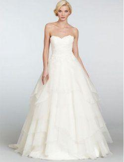 A-Line Satin herzförmiger Ausschnitt Brautkleid mit Reifrock