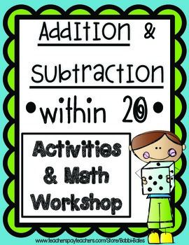 Addition and Subtraction within 20 | Fact families, File folder ...