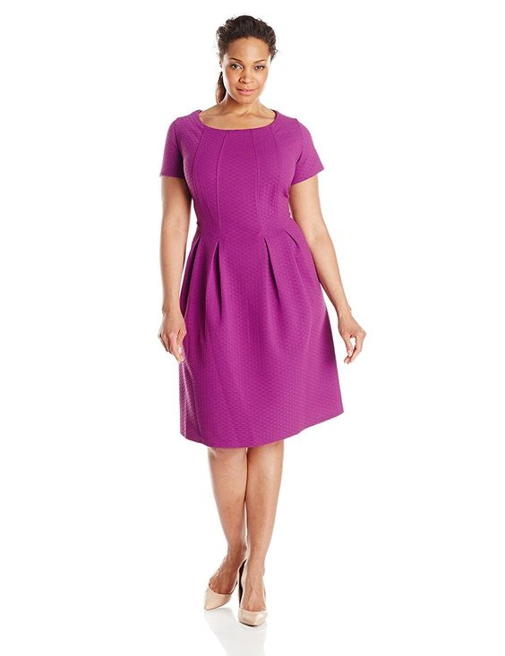 Taylor Dresses Women&39s Plus-Size Short-Sleeve A-Line Dress ...