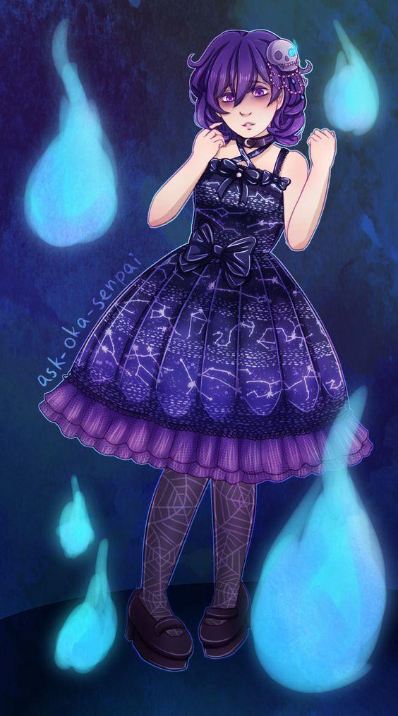 Oka in Lolita fashion: