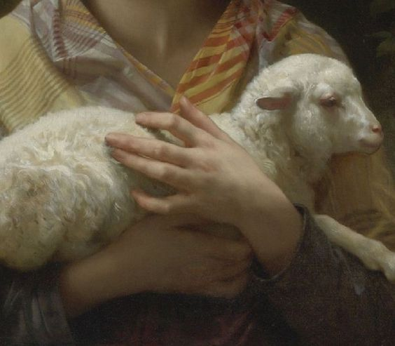 A collection of the smaller details of art works Bouguereau, Innocence (detail)