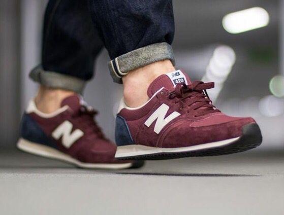 New Balance 420: Burgundy | New balance, New balance 420, Sneakers