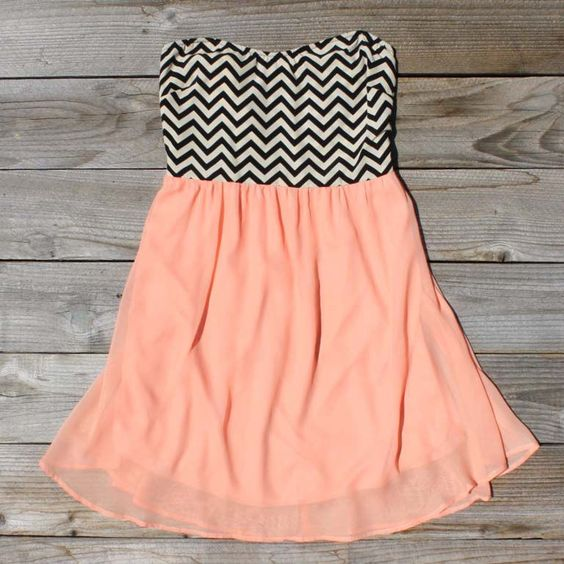 """""""Peach Fizzle Dress"""" @ Spool No.72 