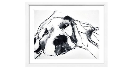 This fine-art giclée reproduction of an original work by Valerie Davide makes a great gift for any dog-lover. The sensitively drawn lines are full of the dog's own charming personality. The...