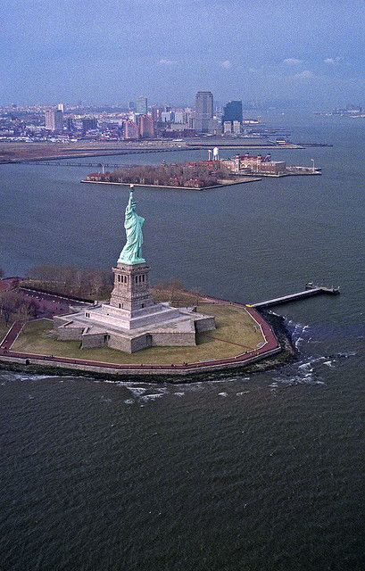 Ellis Island & Statue of Liberty, #NYC. Visit both on a Statue Cruises Ferry with the CityPASS booklet: https://www.cityxplora.com/products/new-york-citypass