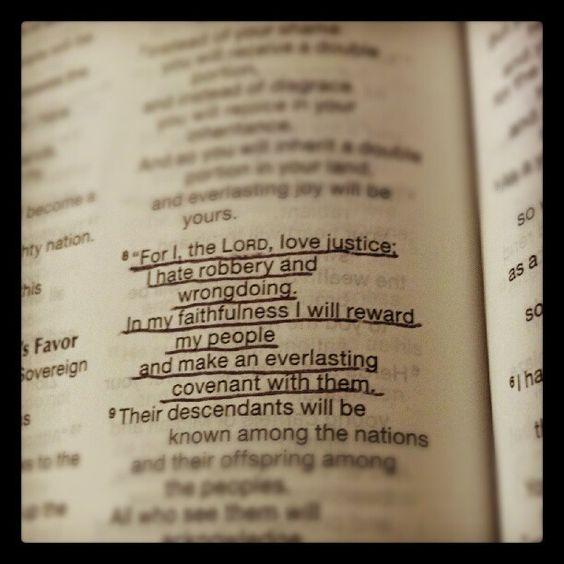 Isaiah 61:8 JUSTICE!!! ♛