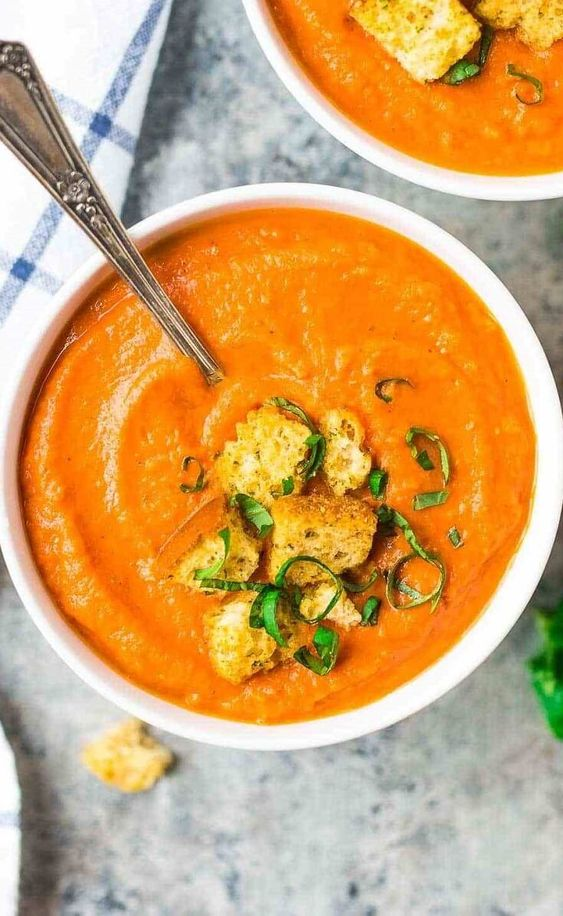 Roasted Carrot Tomato Soup