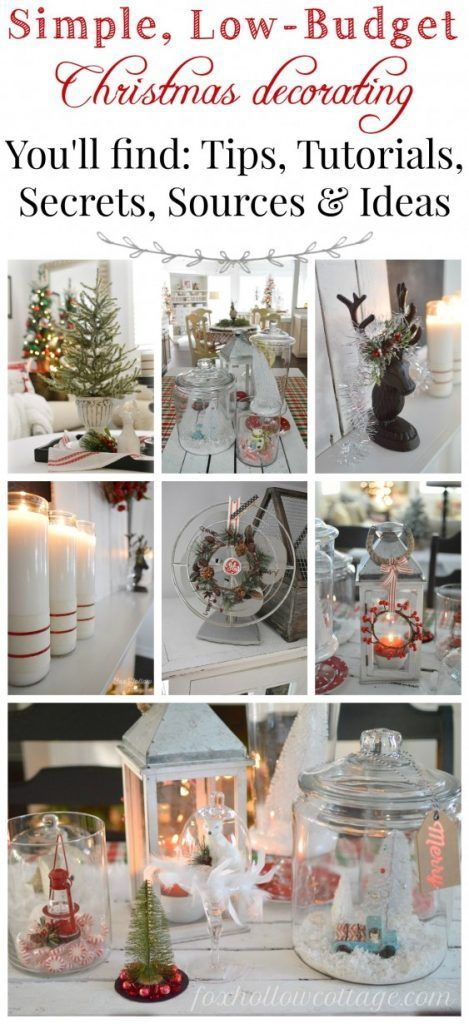 Low Cost Christmas Decorations - 100 Days Of Homemade Holiday Inpsiration