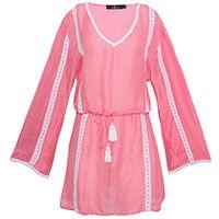 Bata Santorine seda rosa e branco ALIX SHOP