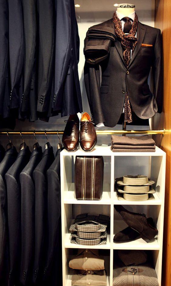 Wardrobe Inspiration | Architecture & Style... Every Mans Walk in Closet.