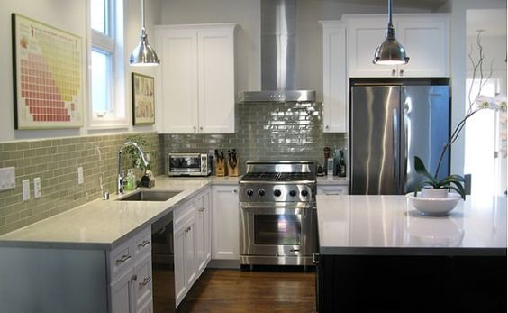 Photo Of Cabinets And Beyond San Mateo Ca United States White Painted Kitchen Cabinets With Black Island Kitchen Painting Kitchen Cabinets Kitchen Paint