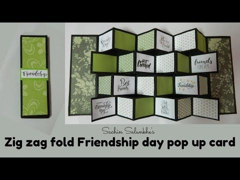 Zig Zag Fold Friendship Day Pop Up Card Handmade Friendship Day Card Youtube Pop Up Cards Cards Handmade Cards