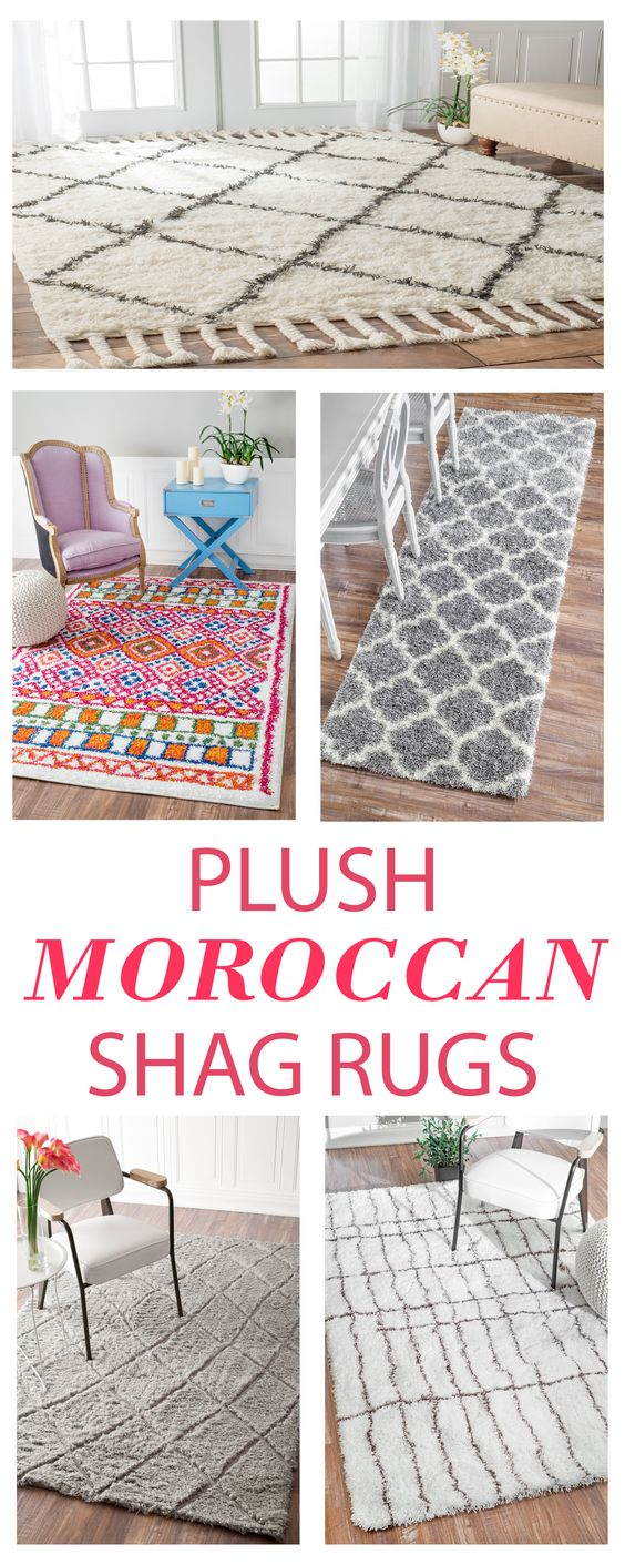 Moroccan Shags are intricately beautiful, wonderfully plush, and great additions to any space! Visit Rugs USA for amazing style, variety, and savings of up to 80% off!: