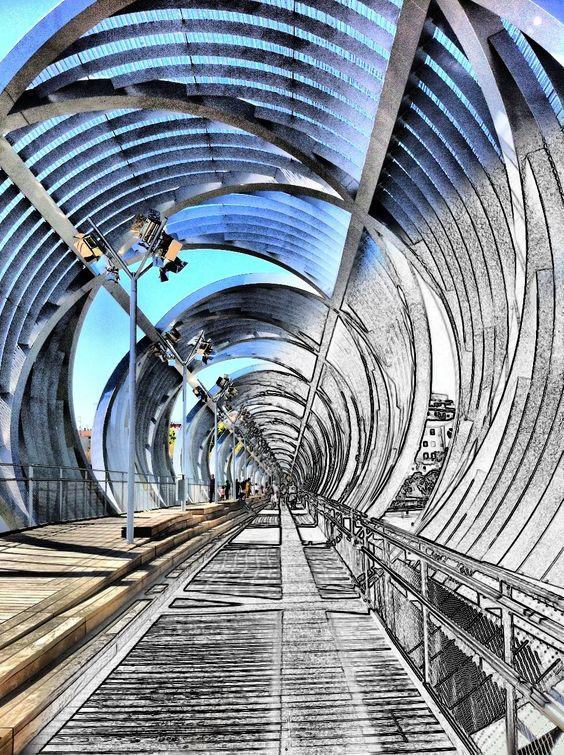 El puente más estético que hay en el proyecto MadridRio