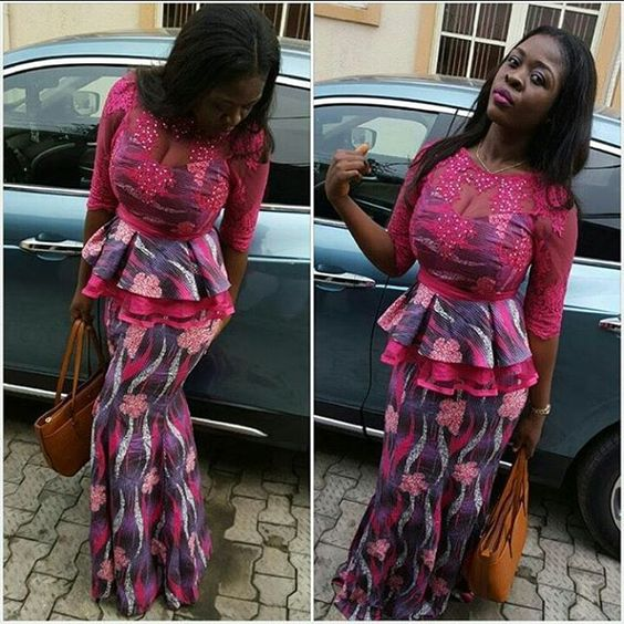 Ankara Skirt and Blouse Style http://www.dezangozone.com/2016/03/ankara-skirt-and-blouse-style.html: