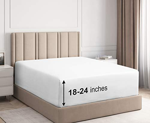 Extra Deep Pocket Fitted Sheet Single Fitted Sheet Only Extra Deep Pockets King Size Sheets Fits 18 In King Size Sheets King Fitted Sheet Best Bed Sheets Extra deep pocket king size sheets