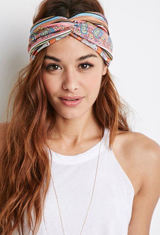 Paisley Print Headwrap   Forever 21 - 1002247445