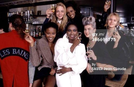 Naomi,  Iman, Katoucha, Marie and Rachel.