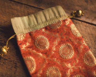 Indian Sari Saree Fabric Bollywood Brocade Silk by ZariLove