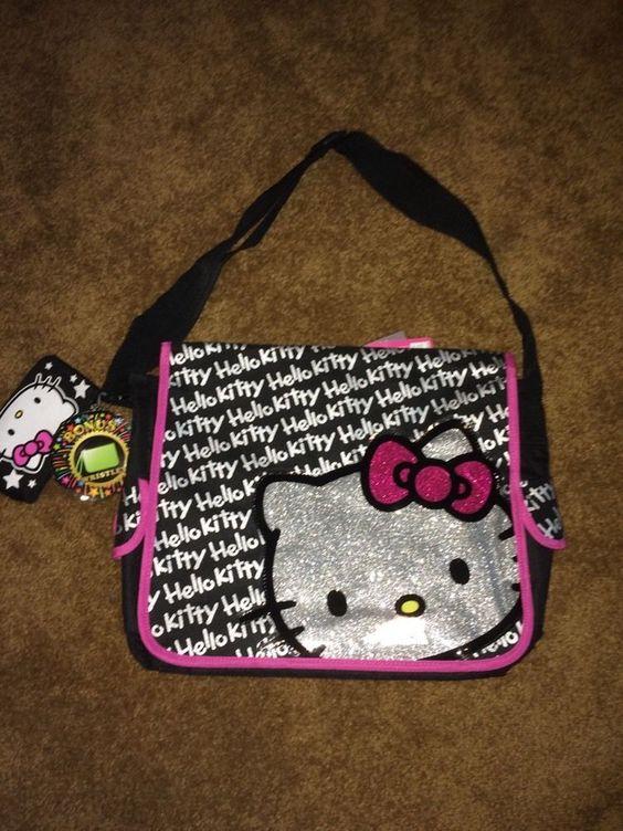 NWT Girls Sanrio Hello Kitty Adjustable Strap Satchel Messenger Bag W/ Wristlet #Sanrio #Satchel