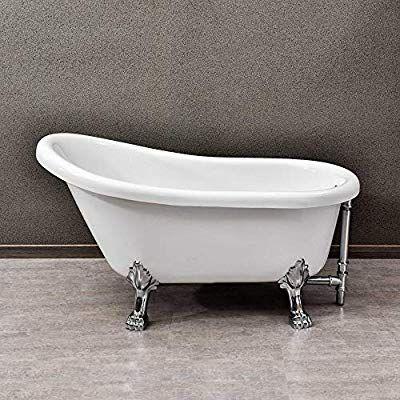 Woodbridge 1 B 0021 54 Traditional Oval Acrylic Freestanding Clawfoot Tub White Double Slipper Bathtub With Soaking Bathtubs Bathrooms Remodel Clawfoot Tub