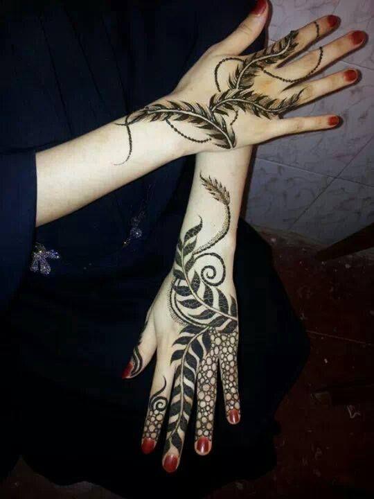 Khaleeji Henna Designs Tattoo: Henna Leaf Design - Google Search