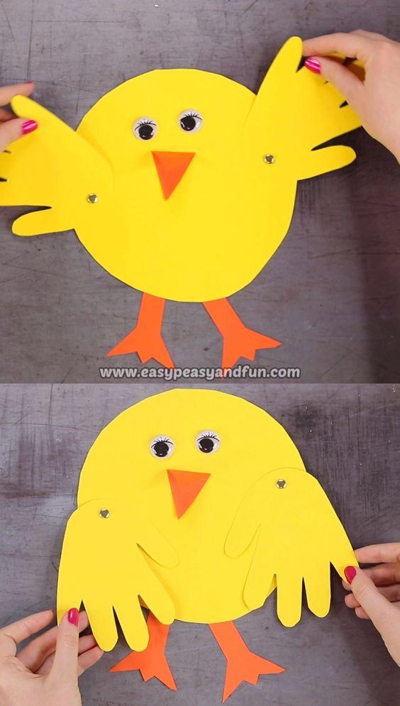 Handprint Chick Craft - #Chick #Craft #Handprint