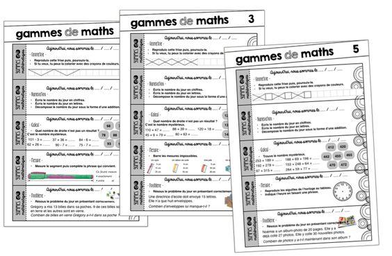 Des gammes de maths - Mélimélune