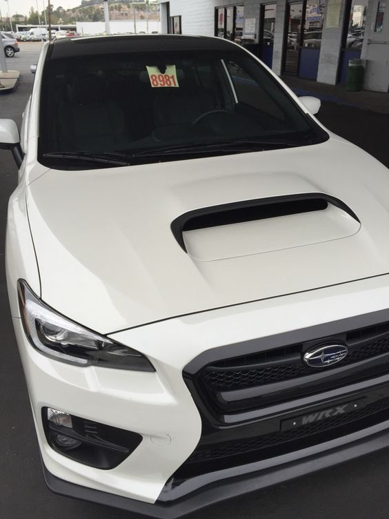 Saw this at the dealership. Love the trim on the scoop. #subaru #wrx #sti #impreza #forester #subie