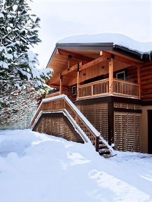 The luxurious rustic vacation destination near Lake Wenatchee and Leavenworth, WA.