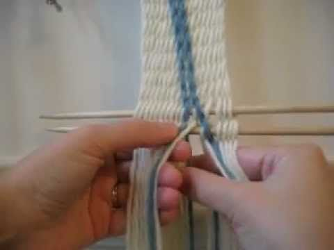 ▶ How to do Intertwining on Interlinked Sprang - YouTube