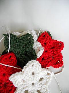 christmas crochet star garland