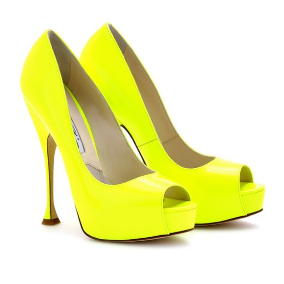 When a shoe has the potential to blind people, then it is the right one. Brian Atwood killer neon pumps
