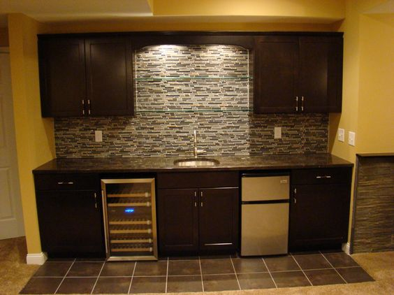 Pretty Basement Wet Bars Image Gallery In Basement Contemporary Design Ideas