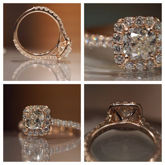 This beautiful ring is 100% Unique and Definitely a LUXURY High-End Engagement Ring    Center Diamond Not Provided, this listing is only for the