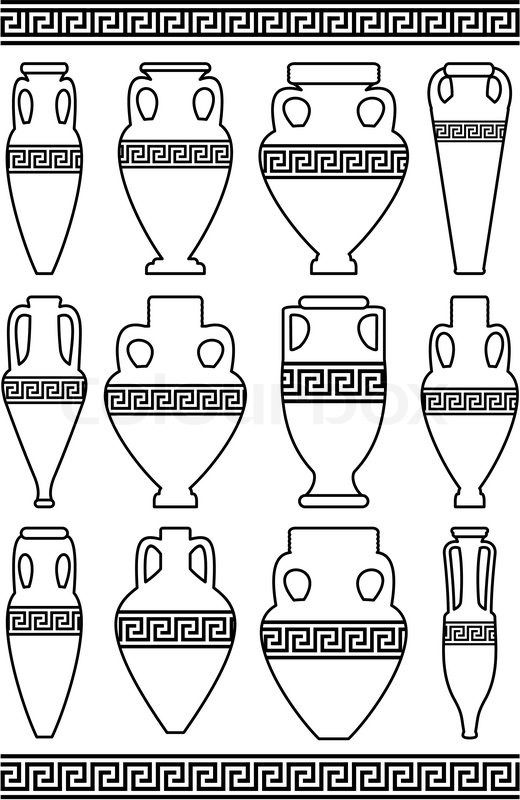 greek patterns on vases - Google Search
