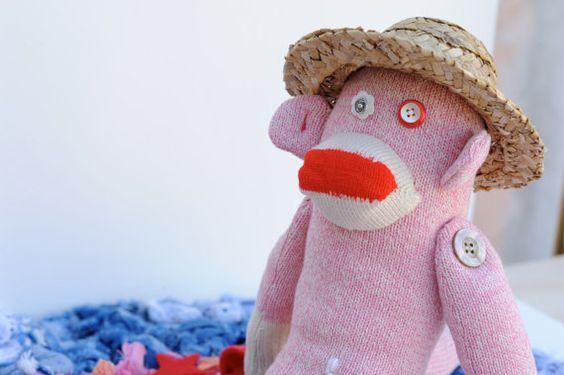 Rosie the Sock Monkey  OOAK by AnneyTaZanney on Etsy, $45.00