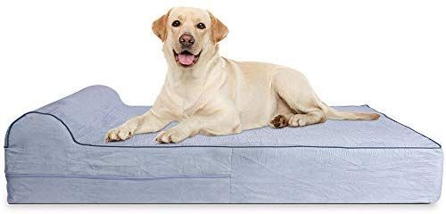Amazon Com 7 Inch Thick High Grade Orthopedic Memory Foam Dog Bed With Pillow And Easy To Wash Removable Cover W Memory Foam Dog Bed Dog Bed Waterproof Liner