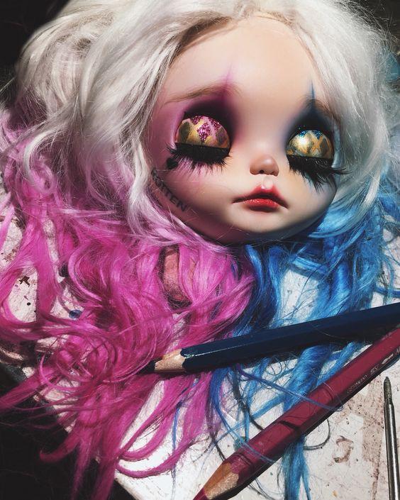 Harley Quinn custom blythe doll by G.Baby