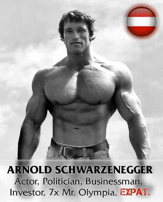 Arnold Schwarzenegger realized his dream by moving to the United States in September 1968 at the age of 21, speaking little English.