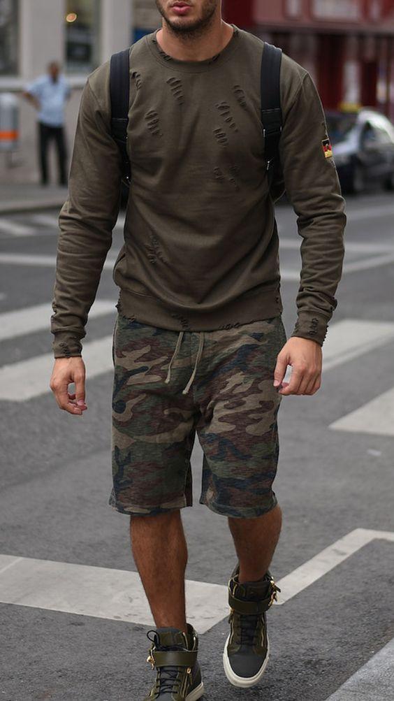 Bermuda Masculina: Macho Moda - Blog de Moda Masculina: Bermuda Masculina: 5 Modelos que estão em alta pra 2017. Moda Masculina, Moda para Homens, Roupa de Homem, Bermuda Masculina Estampada está bem em alta para 2017.