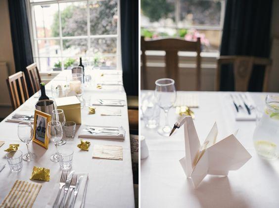 Wedding Origami Swans http://alexa-loy.com/: