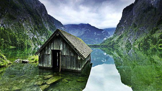 Casa  no meio do lago