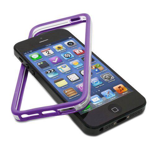 iPhone 5/5S Purple TPU Bumper Case – GreatShield AEGIS Series
