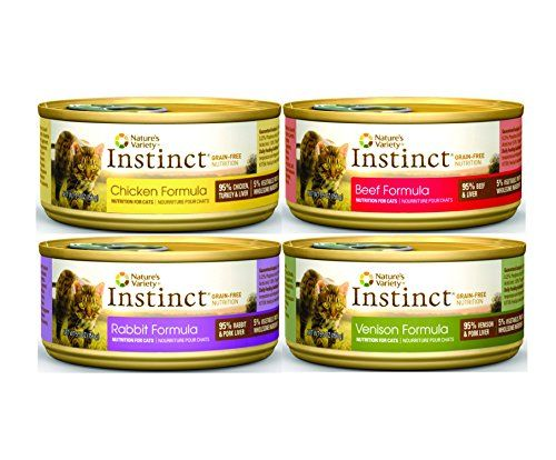 Cat Food Rabbit Nature S Variety Instinct 95 Meat Grain Free 5 5 Oz Canned Cat Food Mixed 12 Cans With 4 Flavors A Chicken Kitten Food Food Wet Cat Food