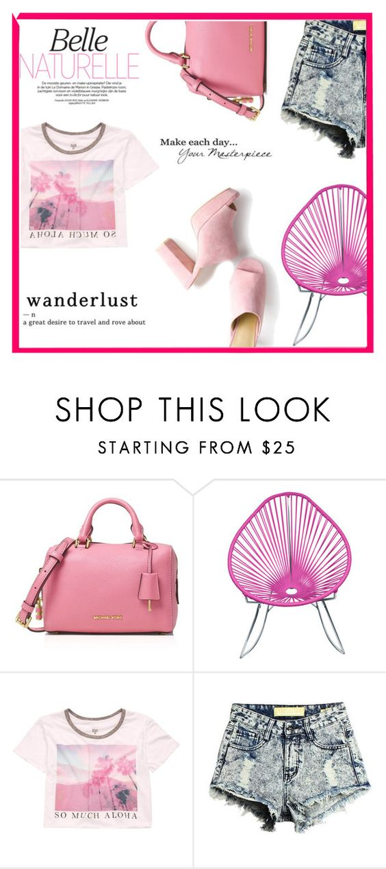 """""""Summer Blush"""" by shehasnoworries ❤ liked on Polyvore featuring MICHAEL Michael Kors, Mason's and Billabong"""