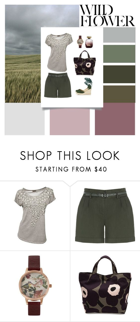 """Oversized florals"" by aki-g ❤ liked on Polyvore featuring Oasis, Olivia Burton, Nina Ricci and Topshop"